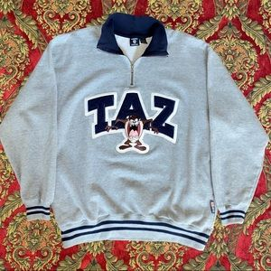 Taz Devil Warner Brothers Quarter Zip Sweatshirt